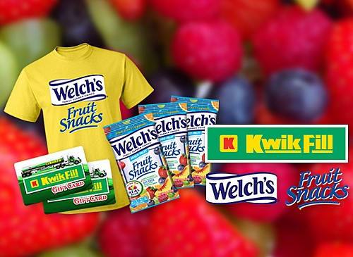 2018 Kwik Fill Welch's Fruit Snacks Giveaway